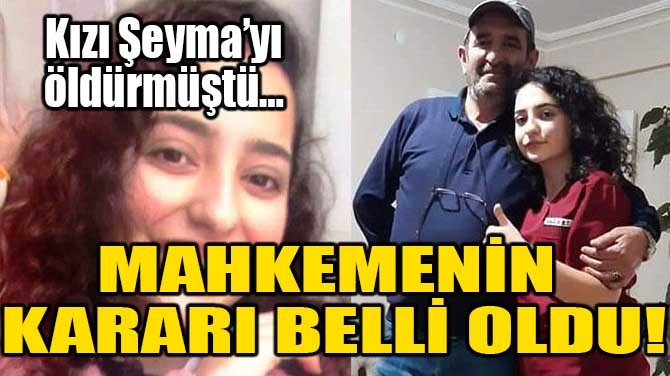MAHKEMENİN KARARI BELLİ OLDU!