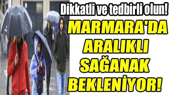 MARMARA'DA  ARALIKLI  SAĞANAK  BEKLENİYOR!