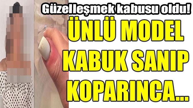 ÜNLÜ MODEL KABUK SANIP KOPARINCA...