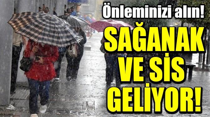 SAĞANAK VE SİS  GELİYOR!