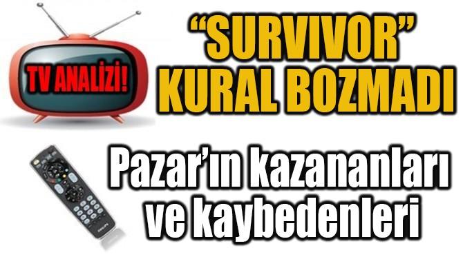 """""""SURVIVOR"""" KURAL BOZMADI"""