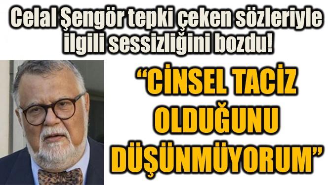 """""""CİNSEL TACİZ  OLDUĞUNU  DÜŞÜNMÜYORUM"""""""