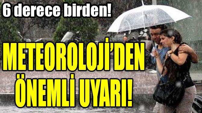 METEOROLOJİ'DEN ÖNEMLİ UYARI!