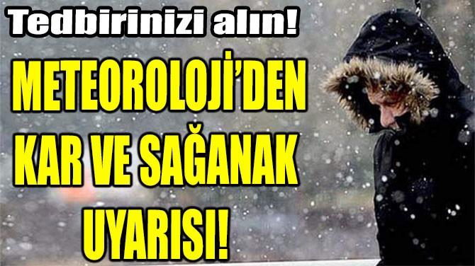 METEOROLOJİ'DEN KAR VE SAĞANAK  UYARISI!