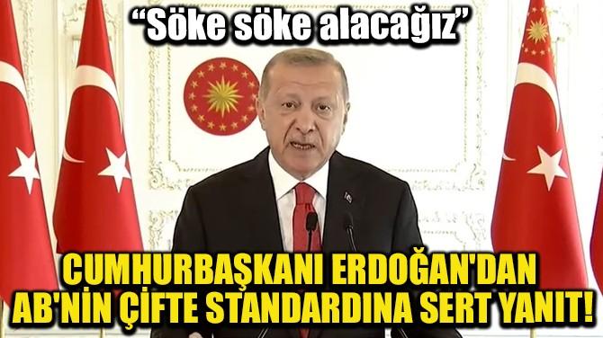 CUMHURBAŞKANI ERDOĞAN'DAN AB'NİN ÇİFTE STANDARDINA SERT YANIT!