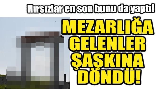 MEZARLIĞA GELENLER ŞAŞKINA DÖNDÜ!
