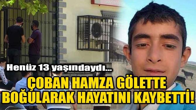 ÇOBAN HAMZA GÖLETTE BOĞULARAK HAYATINI KAYBETTİ!