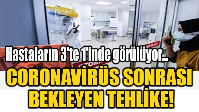 CORONAVİRÜS SONRASI  BEKLEYEN TEHLİKE!