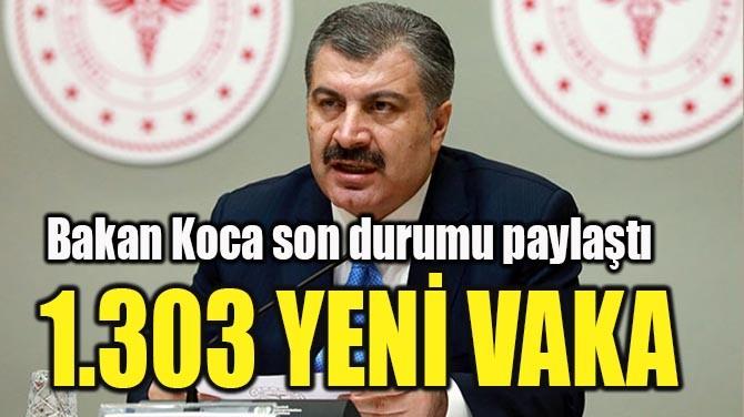 1.303 YENİ VAKA