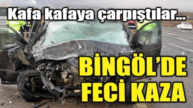 BİNGÖL'DE FECİ KAZA!