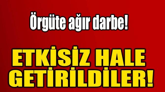 ETKİSİZ HALE  GETİRİLDİLER!