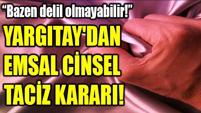 YARGITAY'DAN  EMSAL CİNSEL  TACİZ KARARI!