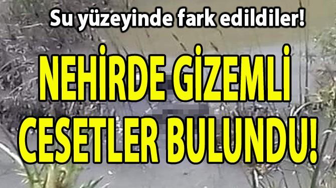 NEHİRDE GİZEMLİ  CESETLER BULUNDU!