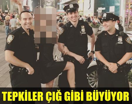 TÜRK OYUNCU AMERİKALI POLİS MEMURLARIYLA ÖYLE BİR POZ VERDİ Kİ!..