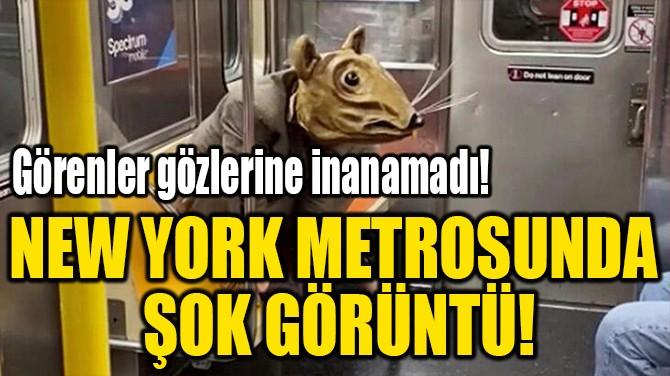 NEW YORK METROSUNDA  ŞOK GÖRÜNTÜ!