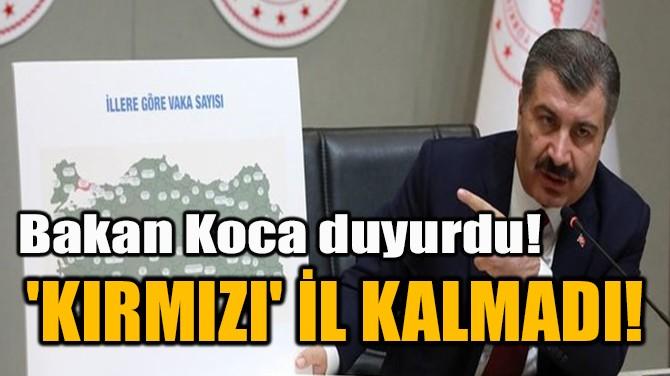 'KIRMIZI' İL KALMADI!