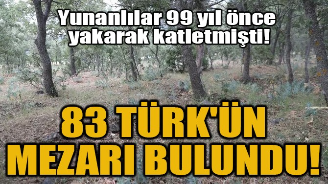 83 TÜRK'ÜN MEZARI BULUNDU!