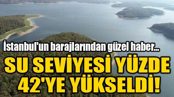 SU SEVİYESİ YÜZDE  42'YE YÜKSELDİ!