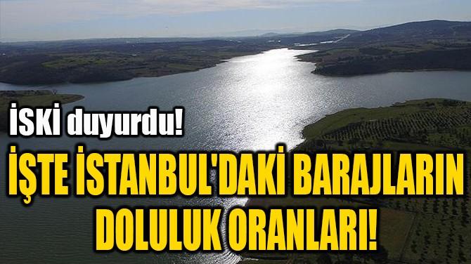 İŞTE İSTANBUL'DAKİ BARAJLARIN  DOLULUK ORANLARI!