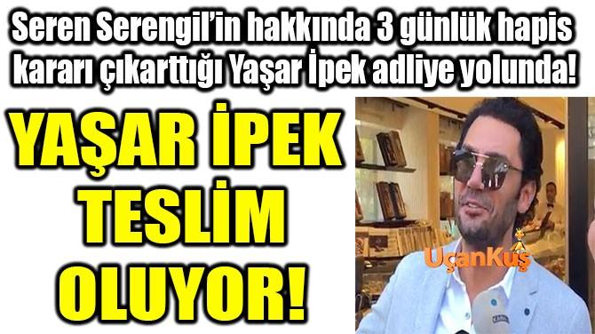 YAŞAR İPEK'İN SON CÜMLESİ 'KADERE BAK' OLDU!