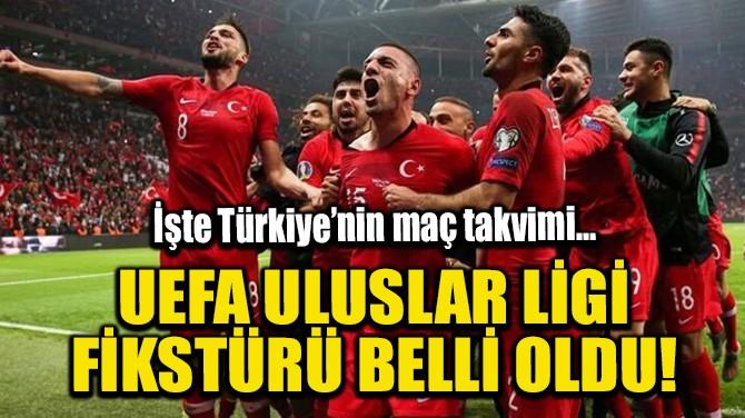 UEFA ULUSLAR LİGİ FİKSTÜRÜ BELLİ OLDU!