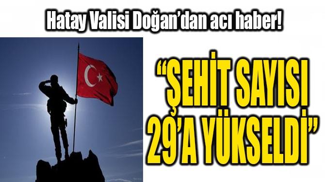 """ŞEHİT SAYIMIZ 29'A YÜKSELDİ"""