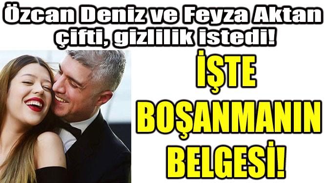İŞTE BOŞANMANIN BELGESİ!