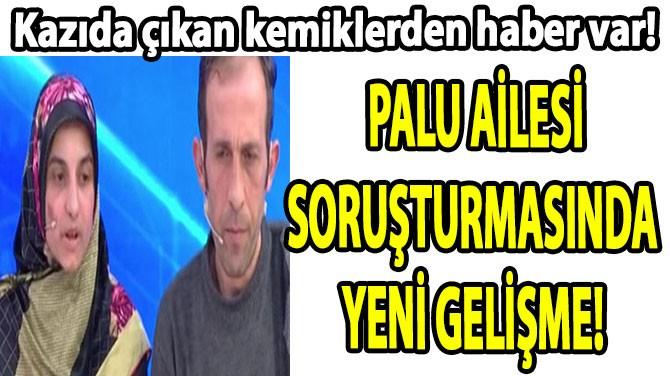 PALU AİLESİ SORUŞTURMASINDA  YENİ GELİŞME!