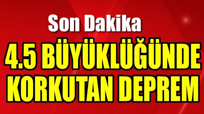EGE DENİZİ'NDE 4.5'LİK KORKUTAN DEPREM