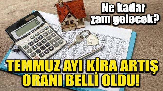 TEMMUZ AYI KİRA ARTIŞ ORANI BELLİ OLDU!