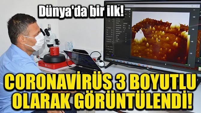 CORONAVİRÜS 3 BOYUTLU OLARAK GÖRÜNTÜLENDİ!