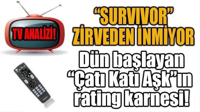 """""""SURVIVOR"""" ZİRVEDEN İNMİYOR"""