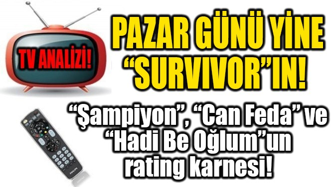 """PAZAR GÜNÜ YİNE """"SURVIVOR""""IN!"""