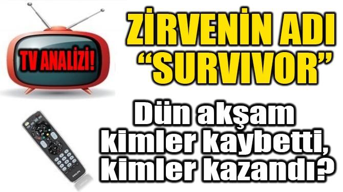 "ZİRVENİN ADI  ""SURVIVOR"""
