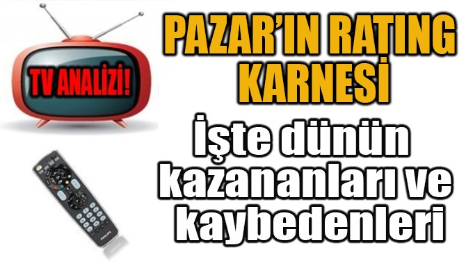 PAZAR'IN RATING  KARNESİ