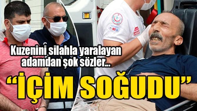 KUZENLERİNİ SİLAHLA YARALADI, 'İÇİM SOĞUDU' DEDİ!