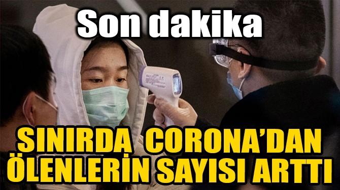 SINIRDA CORONA'DAN ÖLENLERİN SAYISI ARTTI