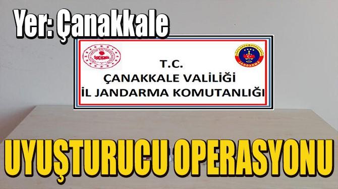 ÇANAKKALE BİGA'DA UYUŞTURUCU OPERASYONU