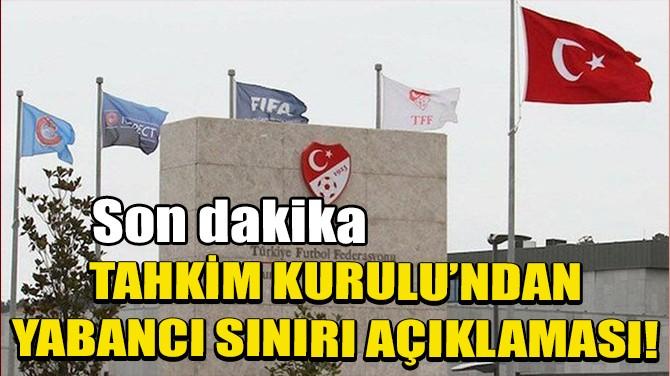 TFF TAHKİM KURULU'NDAN FLAŞ AÇIKLAMA!