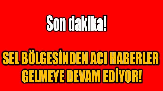 SEL BÖLGESİNDEN ACI HABERLER GELMEYE DEVAM EDİYOR!