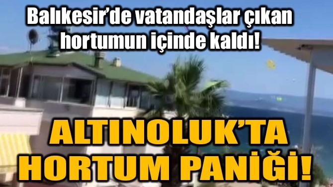 ALTINOLUK'TA HORTUM PANİĞİ!