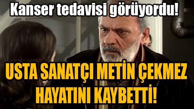 USTA SANATÇI METİN ÇEKMEZ HAYATINI KAYBETTİ!