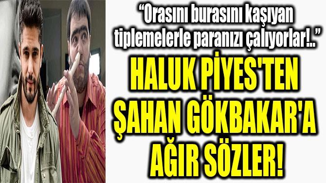 HALUK PİYES'TEN  ŞAHAN GÖKBAKAR'A  AĞIR SÖZLER!
