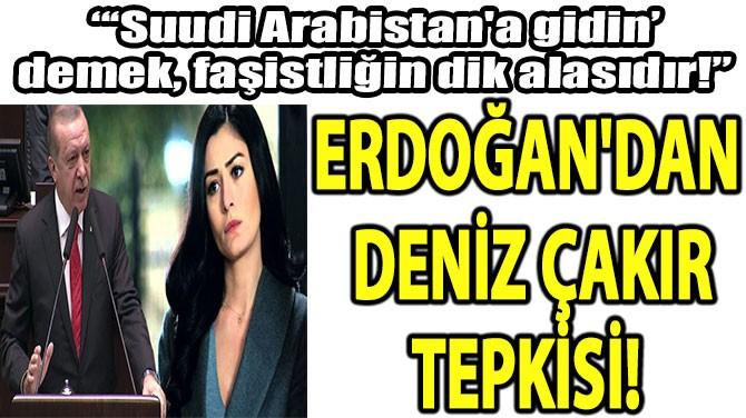 CUMHURBAŞKANI ERDOĞAN'DAN  DENİZ ÇAKIR  TEPKİSİ!