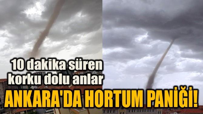 ANKARA'DA HORTUM PANİĞİ!