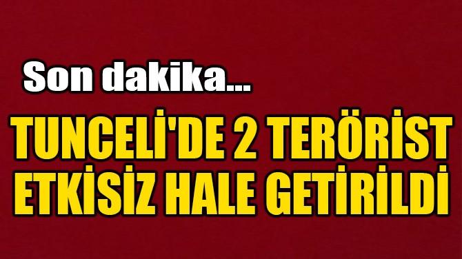 SON DAKİKA! TUNCELİ'DE 2 TERÖRİST ETKİSİZ HALE GETİRİLDİ