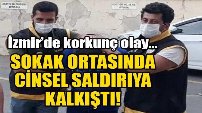 SOKAK ORTASINDA CİNSEL SALDIRIYA KALKIŞTI!