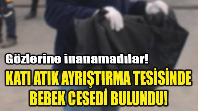 KATI ATIK AYRIŞTIRMA TESİSİNDE BEBEK CESEDİ BULUNDU!