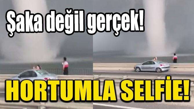 ŞAKA DEĞİL GERÇEK! HORTUMLA SELFİE!
