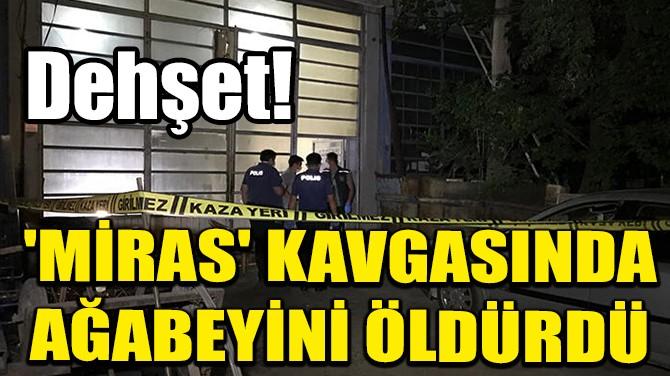 'MİRAS' KAVGASINDA AĞABEYİNİ ÖLDÜRDÜ